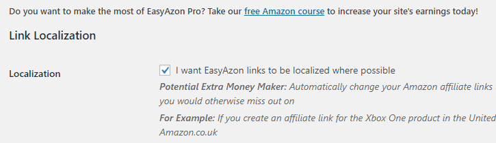 easyazon localizer
