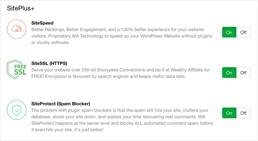 Wealthy Affiliate SitePlus+