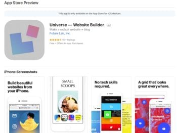 Universe Website Builder Review