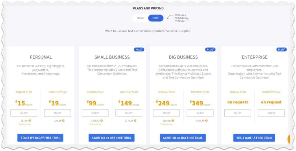 webtexttool pricing
