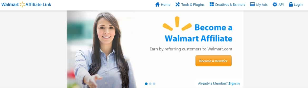 Top 10 affiliate programs for beginners Walmart