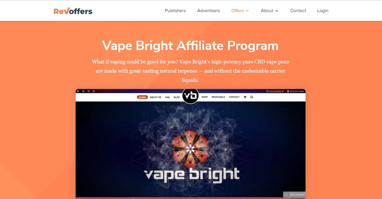 7 Profitable CBD Oil Affiliate Programs: Vape Bright