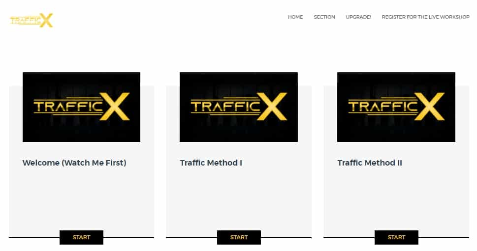 trafficx review members area