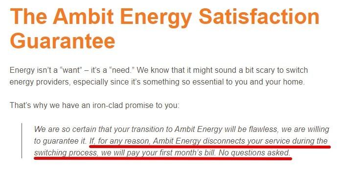 Ambit Energy MLM Review-Guarantee