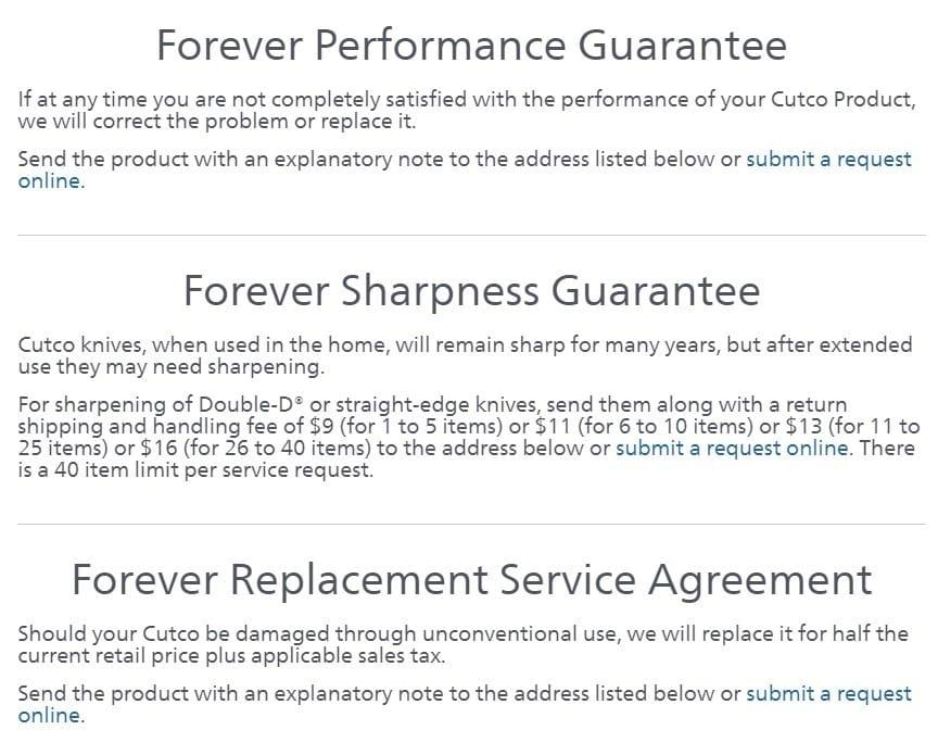 Cutco MLM Review-Guarantee
