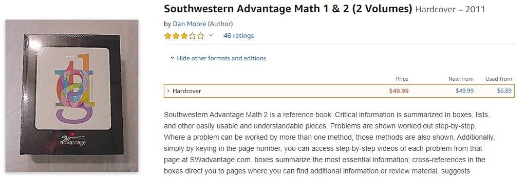 Southwestern Advantage MLM Review-Math1&2