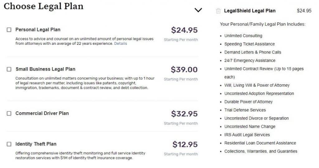 LegalShield MLM Review - Legal Plans